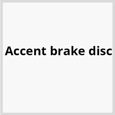Accent-brake-disc